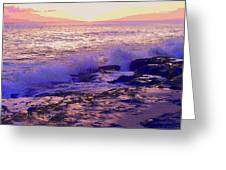 Sunset, West Oahu Greeting Card