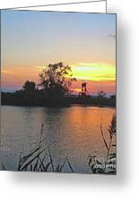Sunset West Of Myers Bagels Vertical Greeting Card