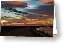 Florida Sunset Winding Road Greeting Card