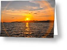 Sunset With Halo Greeting Card