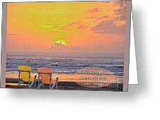 Sunset With Scripture Greeting Card