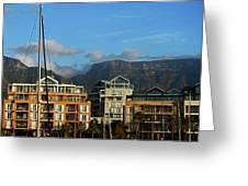 Sunset With Table Mountain Greeting Card