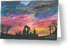 Sunset With You Greeting Card