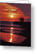 Sunset - Wonder Of Nature Greeting Card