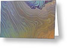 Sunset Wood Greeting Card