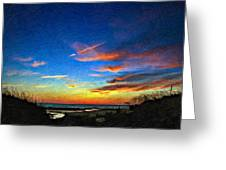 Sunset X Impasto Greeting Card