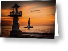 Sunsets And Sailboats Greeting Card