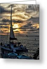 Sunsets And Sails Greeting Card