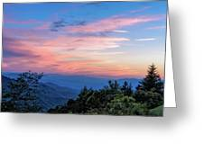 Sunset's Blue Hour Greeting Card