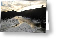 Sunsets On The Pemigewasset Greeting Card