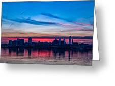 Sunsets Over Philly Greeting Card