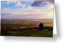 Sunsets Over The Irish Midlands Greeting Card