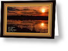 Sunsettia Gloria Catus 1 No. 1 L A. With Decorative Ornate Printed Frame. Greeting Card