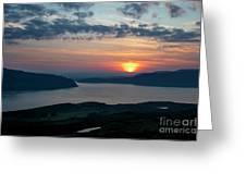 Sunsetting Over Portree, Isle Of Skye, Scotland. Greeting Card