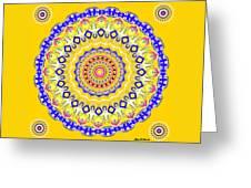 Sunshine And Blue Skies Mandala Greeting Card
