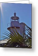 Sunshine At The Lighthouse Greeting Card