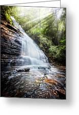 Sunshine At The Waterfall Greeting Card