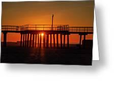 Sunshine At Wildwood Crest Pier Greeting Card