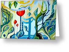 Sunshine Greeting Card by Carola Ann-Margret Forsberg