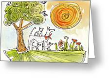 Sunshine Dogs Greeting Card
