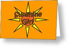 Sunshine Girl Greeting Card