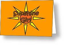 Sunshine Girl Greeting Card