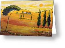 Sunshine In Tuscany In The Morning Greeting Card