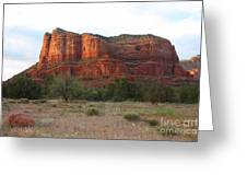 Sunshine On Courthouse Butte Greeting Card