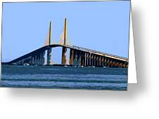 Sunshine Skyway Summer Greeting Card