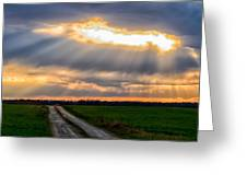 Sunshine Through The Clouds Greeting Card