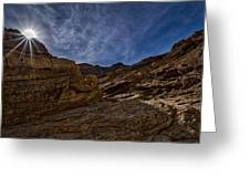 Sunstar Over Mosaic Canyon - Death Valley Greeting Card