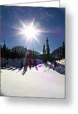 Sunstar Throws Long Shadows Greeting Card