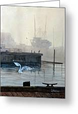 Sunup At The Docks Greeting Card