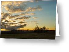 Sunup On The Farm Greeting Card