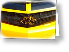 Super Bee Camaro Grill Greeting Card