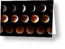 Super Blood Moon Eclipse Greeting Card