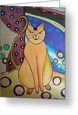 Super-cat Greeting Card