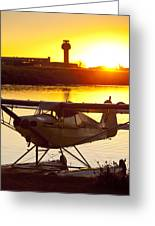 Super Cub At The End Of The Day Greeting Card