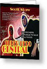 Super Hero Central Greeting Card by The Scott Shaw Poster Gallery