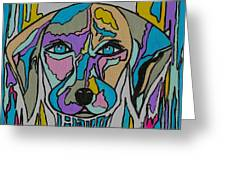 Super Hero - Contemporary Dog Art Greeting Card