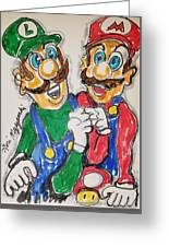 Super Mario Brothers Greeting Card