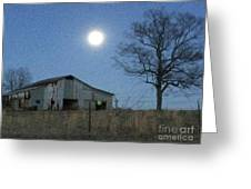 Super-moon, Simple Barn Greeting Card