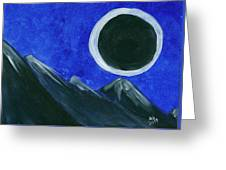Super Moon Eclipse Greeting Card
