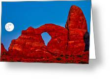 Super Moon Over Arches National Park Greeting Card