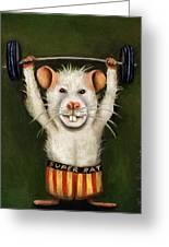 Super Rat Greeting Card