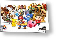 Super Smash Bros. For Nintendo 3ds And Wii U Greeting Card
