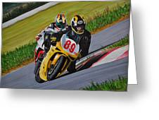 Superbikes Greeting Card