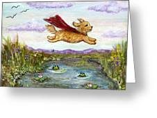 Superdog Buttons Greeting Card