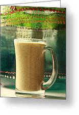 Superfoods Smoothie Greeting Card by Murtaza Humayun Saeed