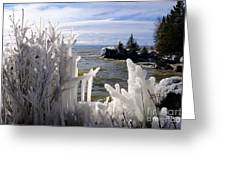 Superior Ice Formations Greeting Card